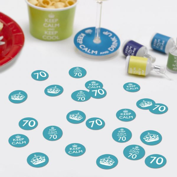 Keep Calm You're Only 70 Table Confetti (14g)